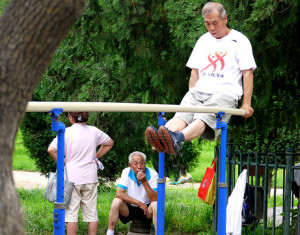elderly chinese man exercise